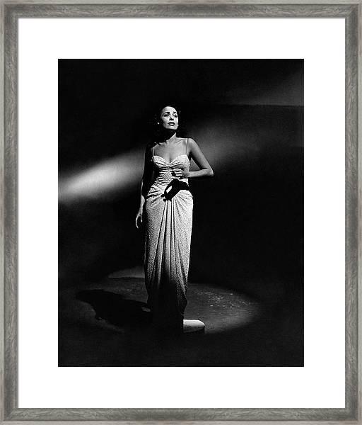 Portrait Of Lena Horne Framed Print by John Rawlings