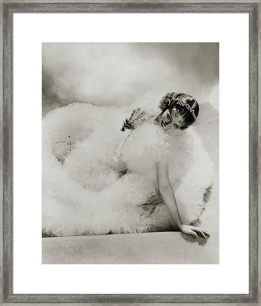 Portrait Of Loretta Young Framed Print