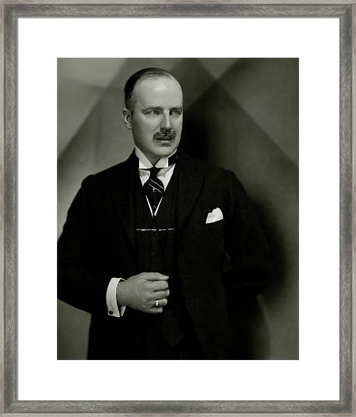 Portrait Of Louis Graveure Framed Print