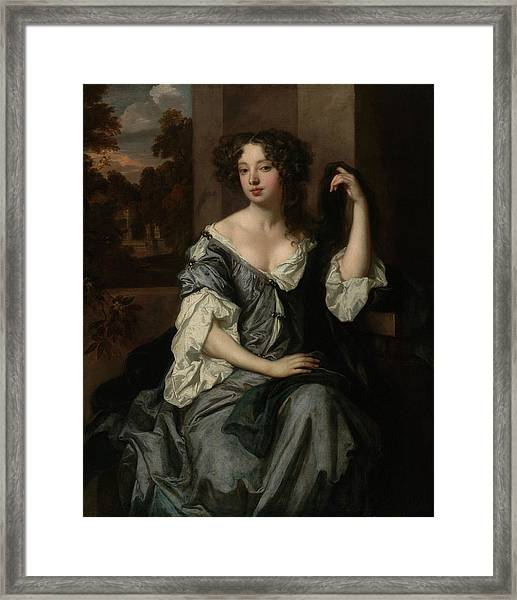 Portrait Of Louise De Keroualle, Duchess Of Portsmouth Framed Print by Litz Collection