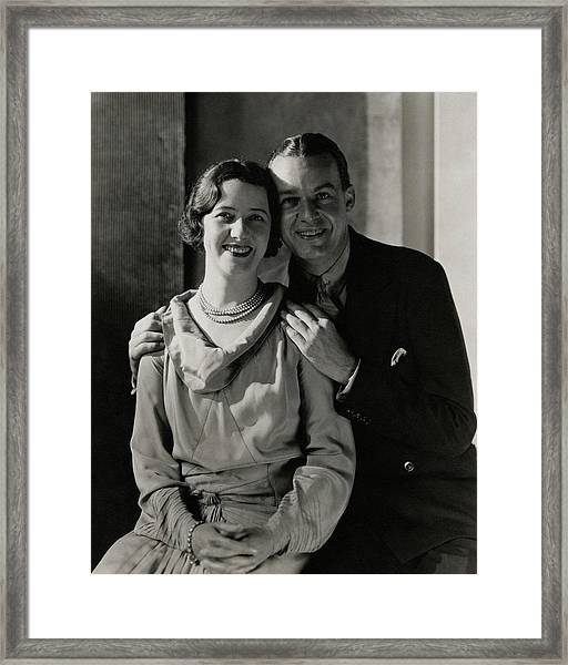 Portrait Of Lynn Fontanne And Alfred Lunt Framed Print