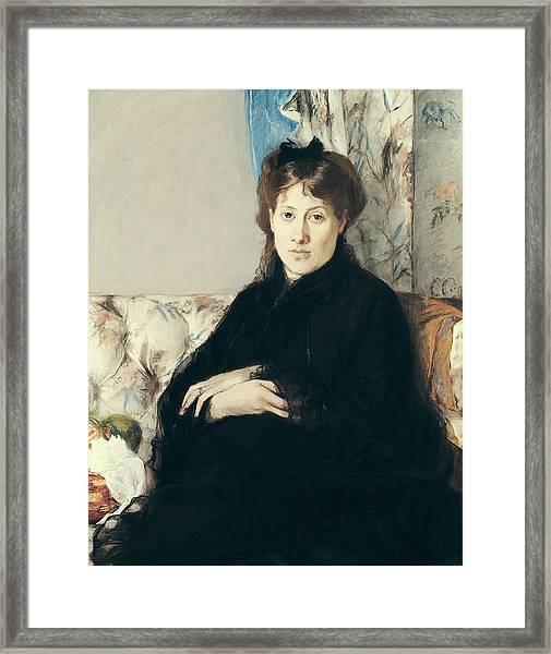 Portrait Of Madame Edma Pontillon Framed Print