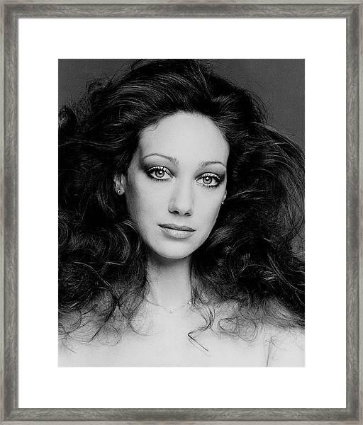 Portrait Of Marisa Berenson Framed Print by Francesco Scavullo