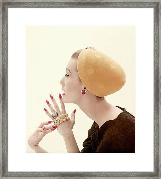 Portrait Of Mary Jane Russell Framed Print