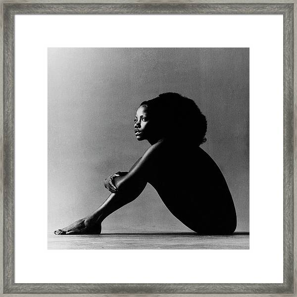 Portrait Of Melba Moore Framed Print
