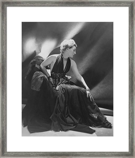 Portrait Of Mona Von Bismarck Framed Print by Cecil Beaton
