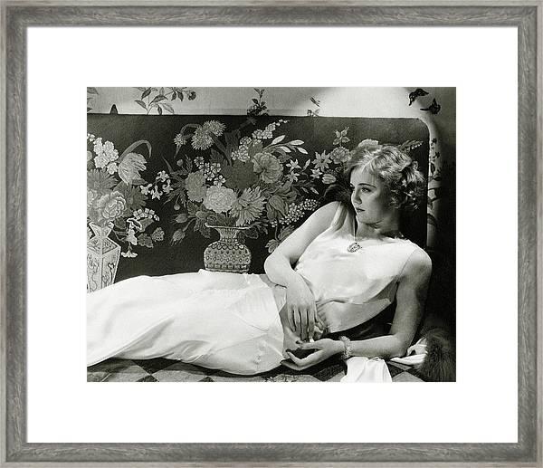 Portrait Of Nancy Carroll Framed Print
