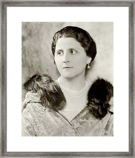 Portrait Of Nina Morgana Framed Print by Nicholas Muray