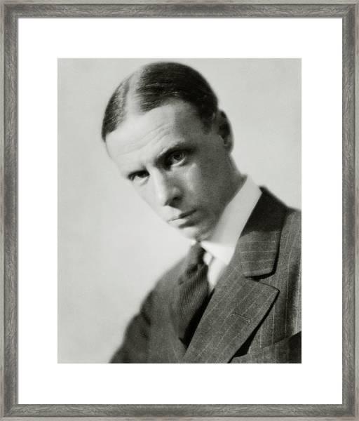 Portrait Of Novelist Sinclair Lewis Framed Print