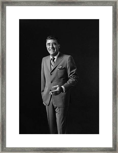 Portrait Of Peter Lawford Framed Print by Leonard Nones