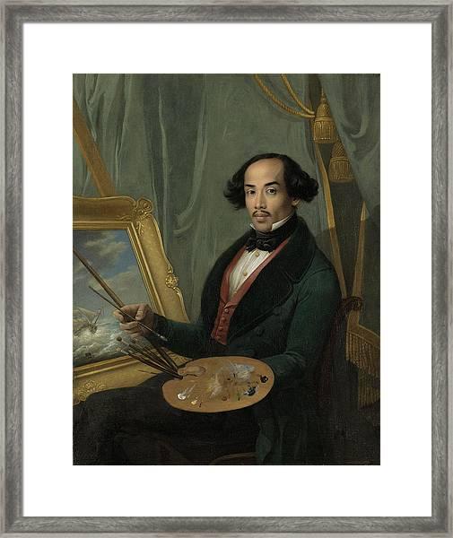 Portrait Of Raden Syarif Bustaman Saleh, Attributed Framed Print by Quint Lox