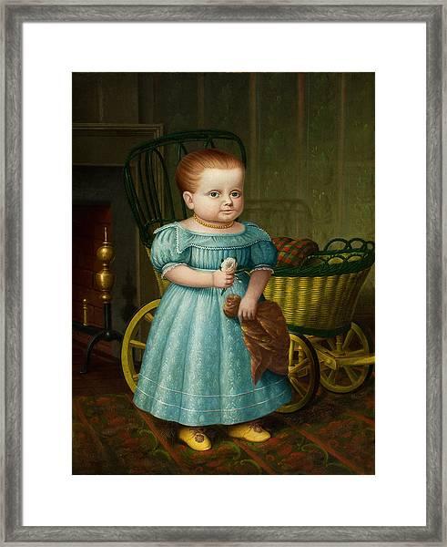 Portrait Of Sally Puffer Sanderson Framed Print