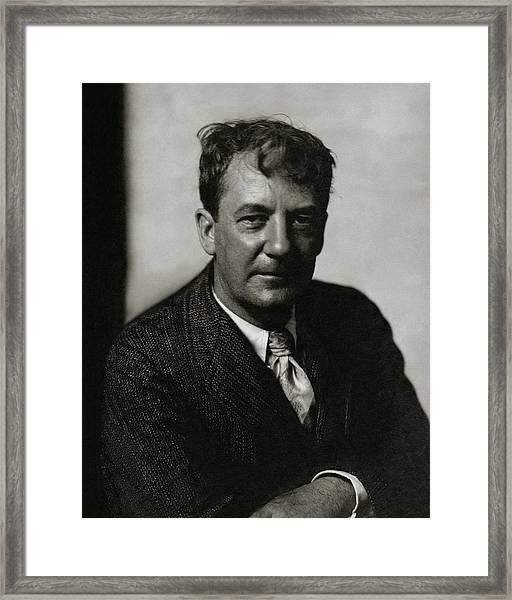 Portrait Of Sherwood Anderson Framed Print