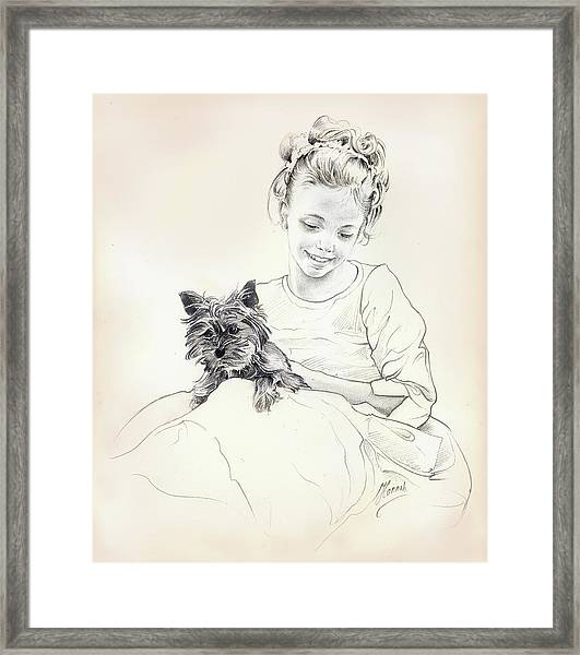 Portrait Of Sylwia Framed Print