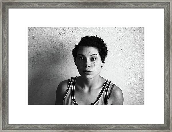 Portrait Of Young Woman Framed Print by Talia Ali / Eyeem