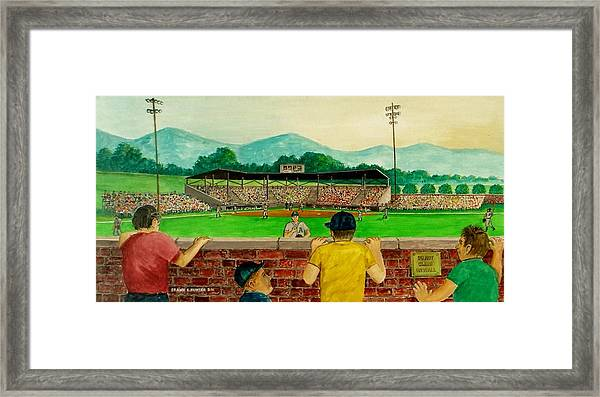 Portsmouth Athletics Vs Muncie Reds 1948 Framed Print