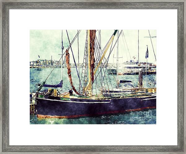 Portsmouth Harbour Boats Framed Print