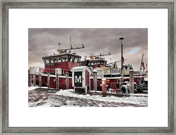 Portsmouth Tugboats Framed Print