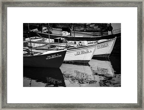 Portuguese Fishing Boats Framed Print