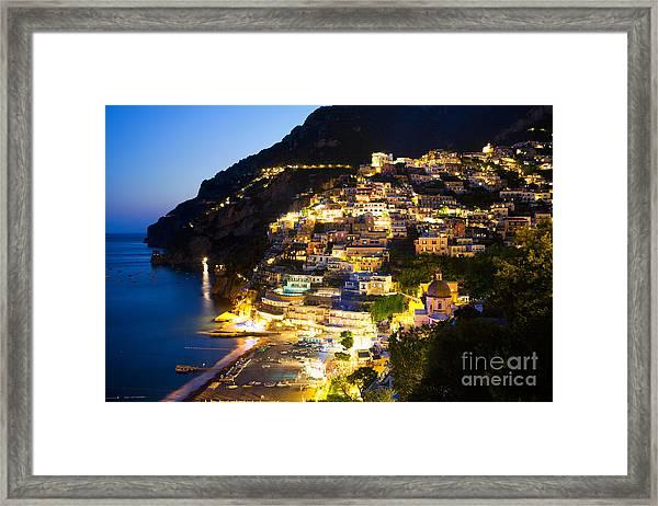 Positano Glow Framed Print