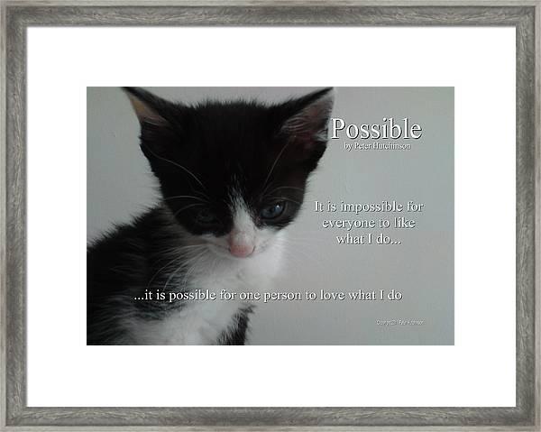 Possible Framed Print