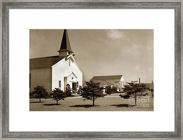 Post Chapel And Red Cross Building Fort Ord Army Base California 1950 Framed Print