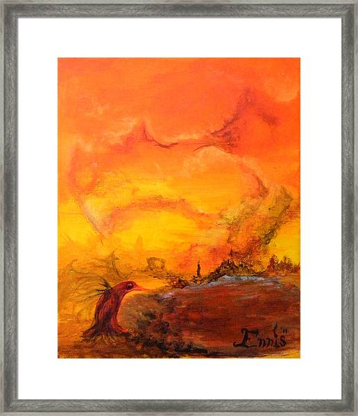 Post Nuclear Watering Hole Framed Print