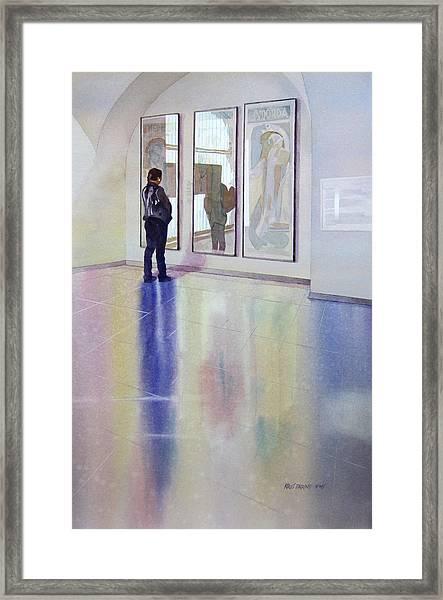 Poster Girls Framed Print by Kris Parins