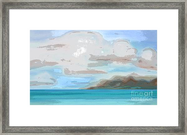 Posterized Landscape Alaska  Framed Print