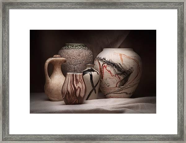 Pottery Still Life Framed Print