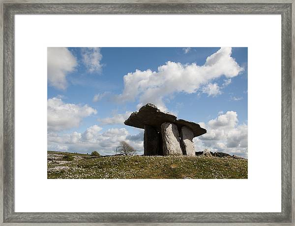 Poulnabrone Dolmen Framed Print