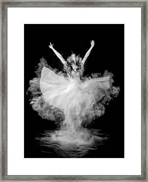Powder Burst Framed Print by Pauline Pentony Ba