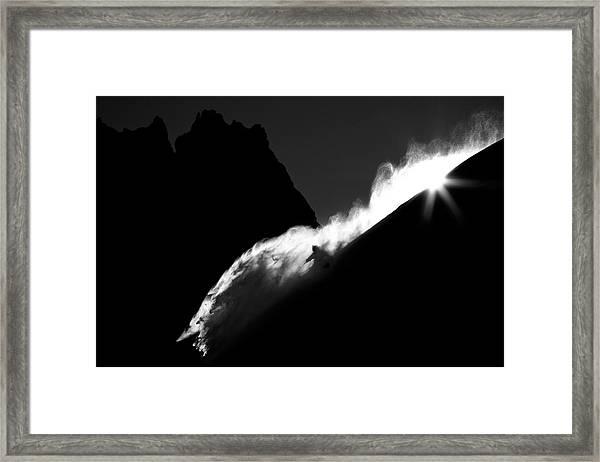 Powder Turn Framed Print