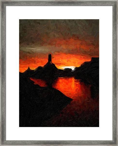 Powell Sunset Framed Print