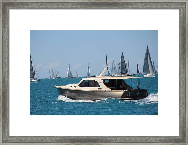 Framed Print featuring the photograph Power And Sail by Debbie Cundy