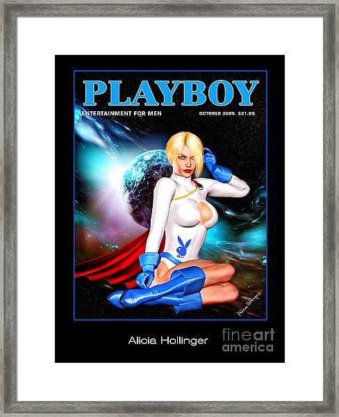 Power Girl 2085 Framed Print