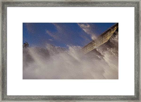 Power Of Water Framed Print by Debbie Cundy