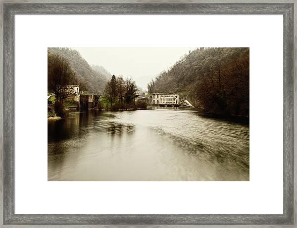 Power Plant On River Framed Print