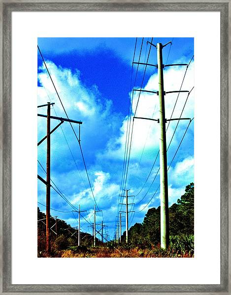 Power To The Infinity Framed Print