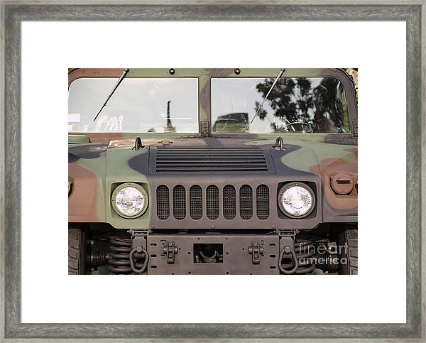 Powerful Army Off Road Vehicle Framed Print