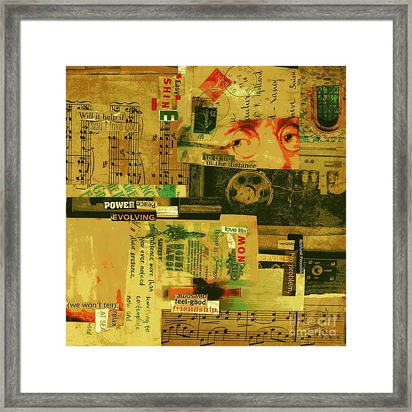 Powerful Peace Framed Print by Currie Silver