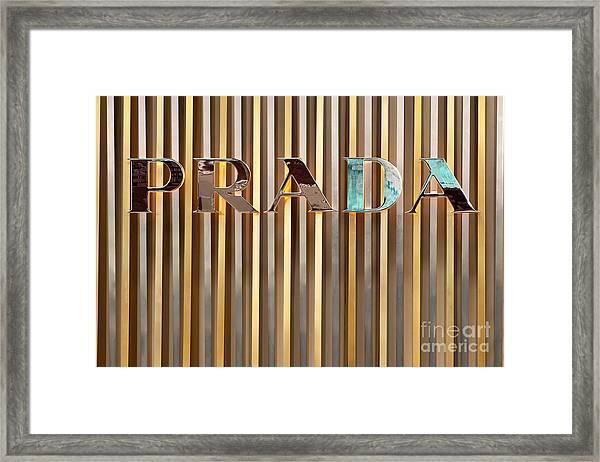Prada 01 Framed Print