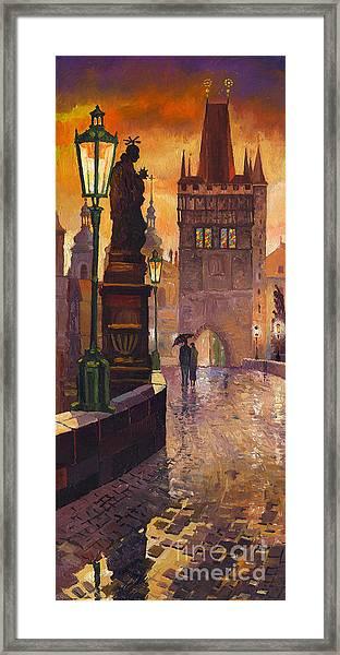 Prague Charles Bridge 01 Framed Print