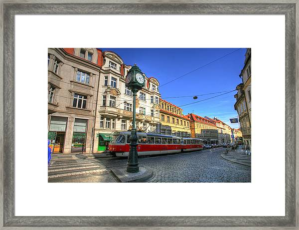 Prague Streetcar Framed Print