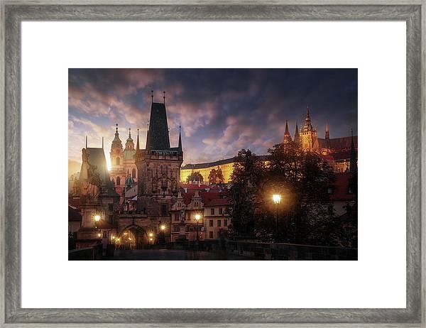 Prague Sun. Framed Print by Juan Pablo De