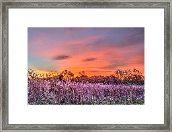 Moraine Hills State Park Moments Before Sunrise Framed Print