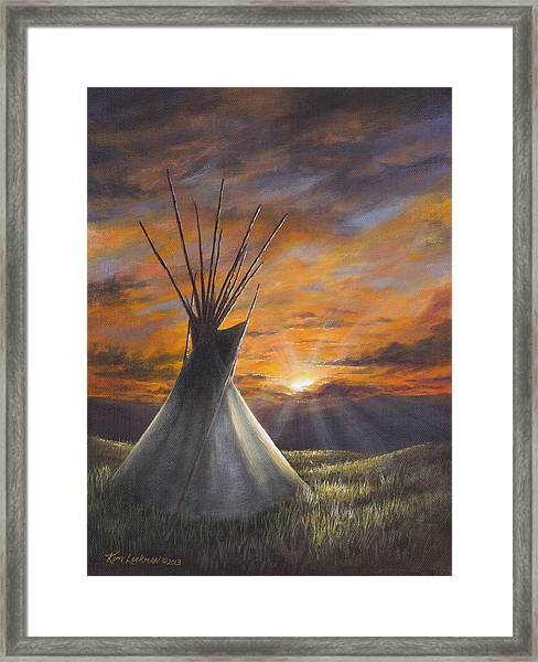 Prairie Sunset Framed Print