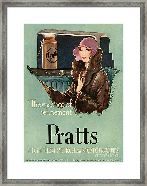 Pratts  1930 1930s Uk Cc  Women Woman Framed Print