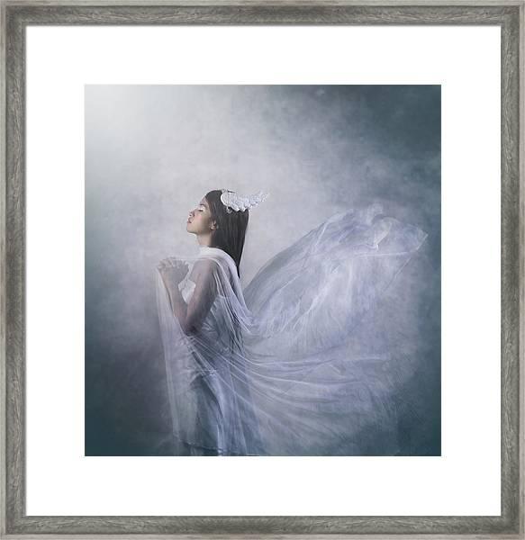 'pray Of Angel' Framed Print