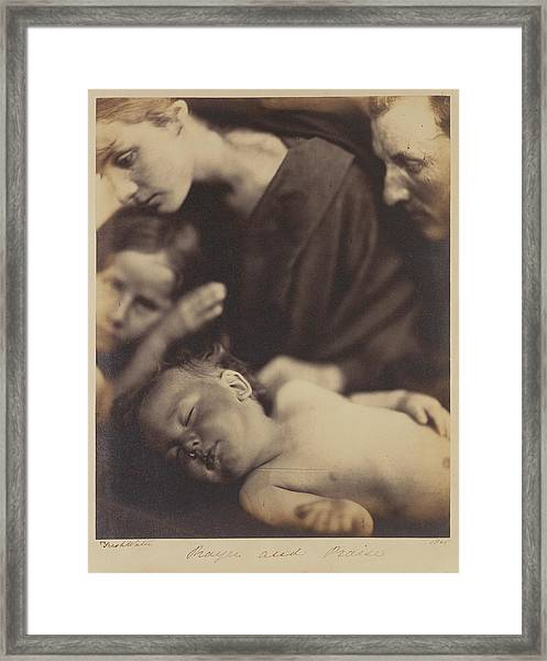Prayer And Praise Julia Margaret Cameron Framed Print
